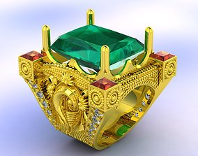 INDIAN GOD RING STL 3d model for 3d printing 3D print