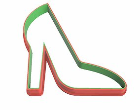 0140 Stiletto shoes cookie cutter 3D printable model