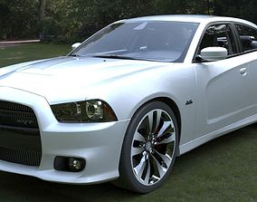 Dodge Charger srt8 2012 3D model game-ready