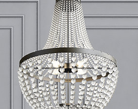 6 Light Chandelier 3D