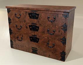 Japanese folk art chest of drawer funiture 3D model