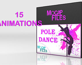 Pole Dance - motion capture animations- Bundle 3D