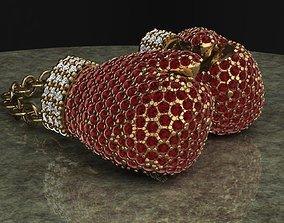 3D printable model Diamond Boxing Gloves gold