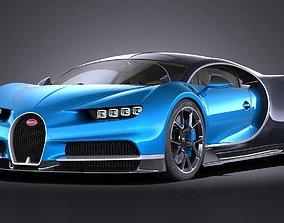 3D model Bugatti Chiron 2017 2018