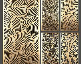 Decorative panel set 41 3D model