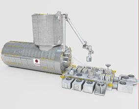 Japanese Experiment Lab Kibo HOPE Module on 3D