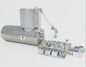 Japanese Experiment Module Kibo HOPE Module on 3D model 1