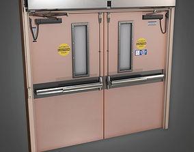 Hosptial Door HPL - PBR Game Ready 3D model