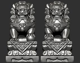decor 3D printable model Guardian Lions