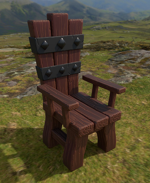 Low Poly Throne Model