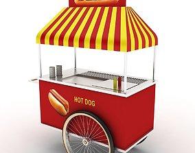 hot dog cart 3D model fast