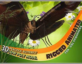 3D model Peacock Butterfly