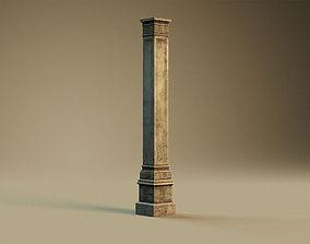 3D asset Collumn pedestal