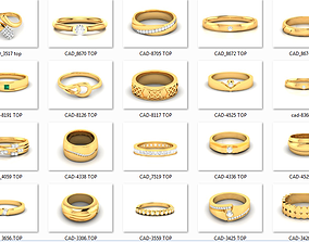 390 wedding engagement band cad 3dm render details