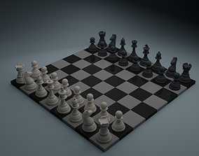 3D asset animated Chess