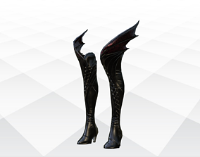 3D asset game-ready Shoes Sandals and Slippers nike