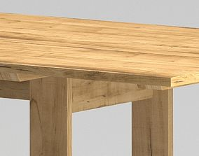 Modern light wood table 3D model