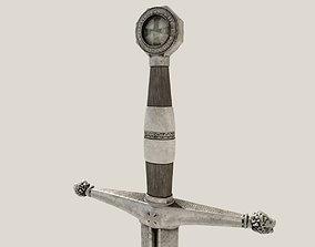 3D asset VR / AR ready Medieval Sword