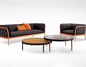 Tait Trace sofa and armchair 3D model