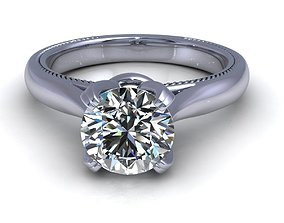 3D print model Solitaire Engagement Ring