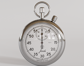 Stopwatch 3D model timer