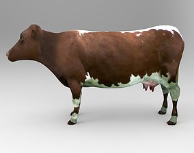 Brown Cow low poly 3D model