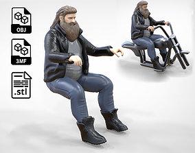 3D printable model N1 Biker Gang Guy 1 64 Miniature