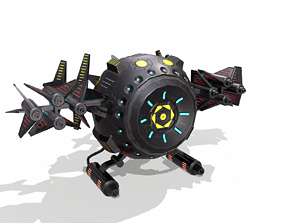 Space drone - PBR 3D asset low-poly