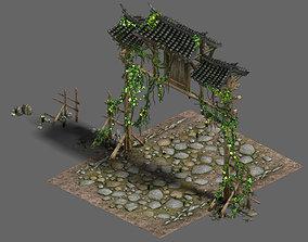 Western Sichuan River - the village gate 3D model