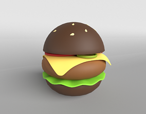 3D asset game-ready Burger v1 003
