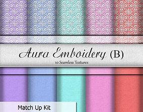3D model Aura Embroidery B Seamless Textures Set