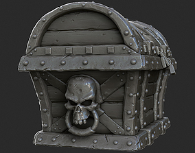 3D Pirate Treasure Chest