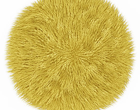 Round yellow carpet fur 3D model