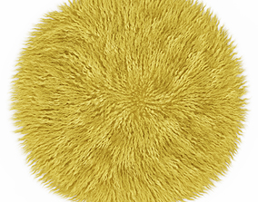 Round yellow carpet fur 3D model