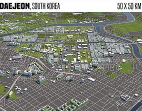 Daejeon South Korea 50x50km 3D