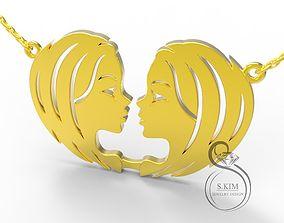 Gemini twins pendant 3D printable model