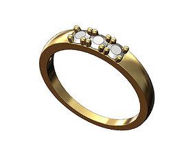 Bold Diamond Stacker Ring 3D print model