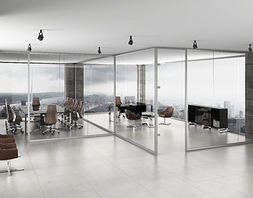 3D office partition modern