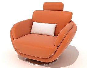 3D model Modern Orange Armchair