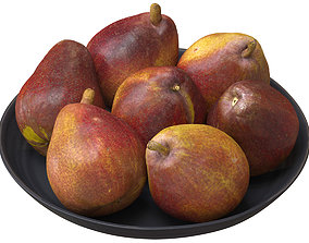 3D model Red Pears Set 01 PBR