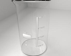 250ml Empty Glass Beaker 3D model