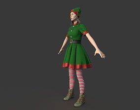 3D model PBR CHRISTMAS ELF