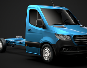 3D model Freightliner Sprinter Chassis Single Cab L2 FWD