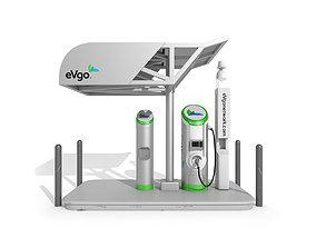 Electric Vehicle Charging Station eVgo 3D model