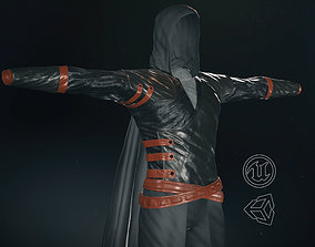 Male Assassin Outfit 2 3D asset low-poly