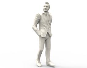 Chuck Noll football player and head 3D printable model