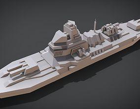 3D printable model Anti-ship Destroyer