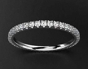 3D printable model Wedding Band Pave Diamond 30 points