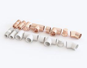 Pipe fittings 3D model