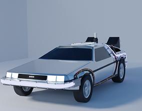 3D model Delorean